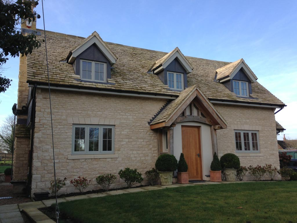 Bespoke new build stone cottage in traditional styling