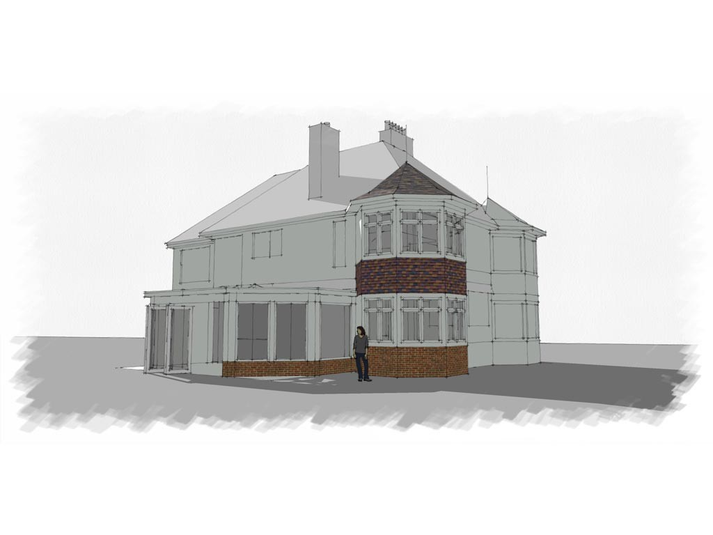 Visualisation of potential house extension
