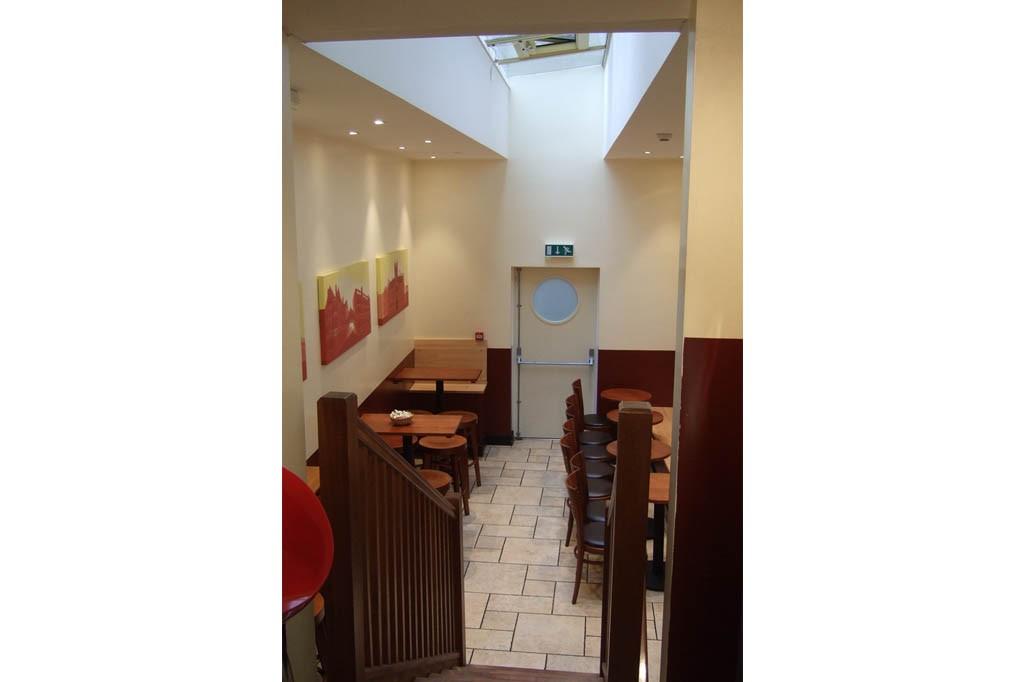 Café extension taken from shop