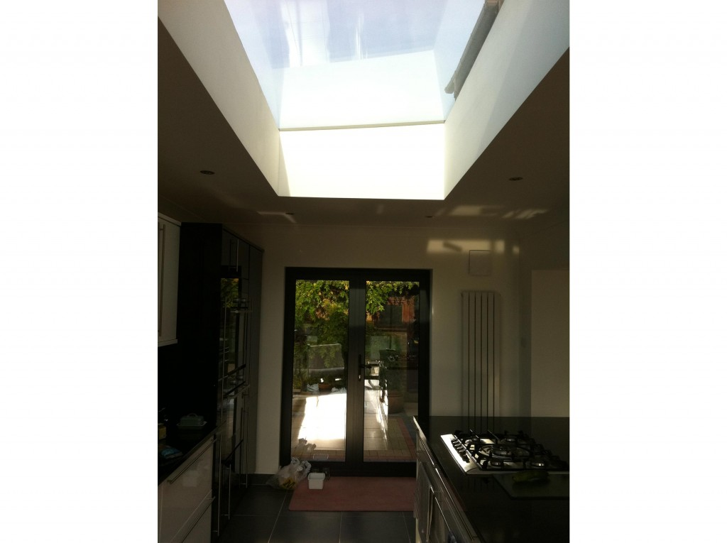 Glazed lantern over the kitchen