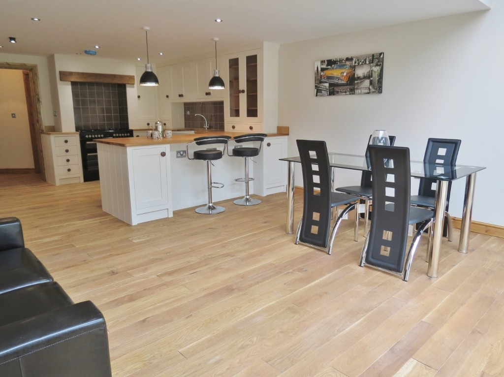 Large open plan kitchen and dining area