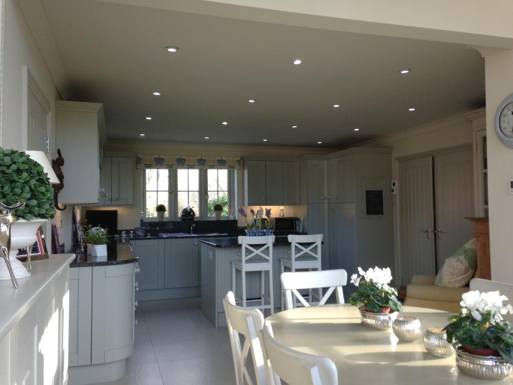 Interior shot of the kitchen and dining area of the new cottage