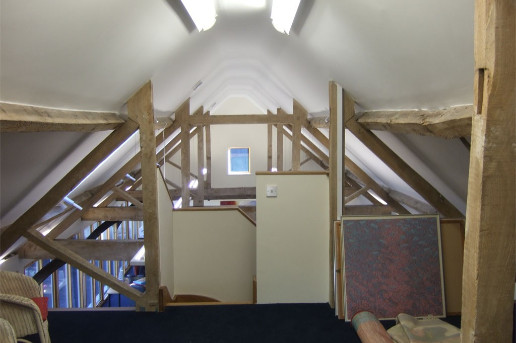 Loft area of barn conversion