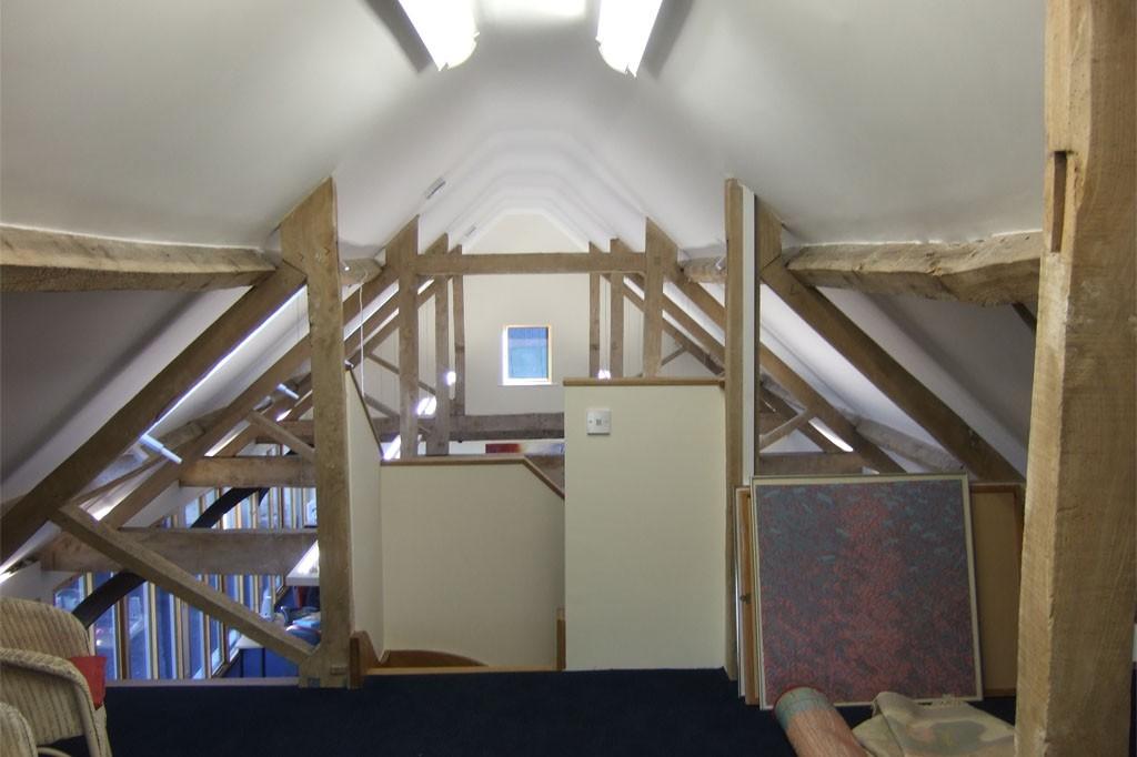 Loft area of barn conversion