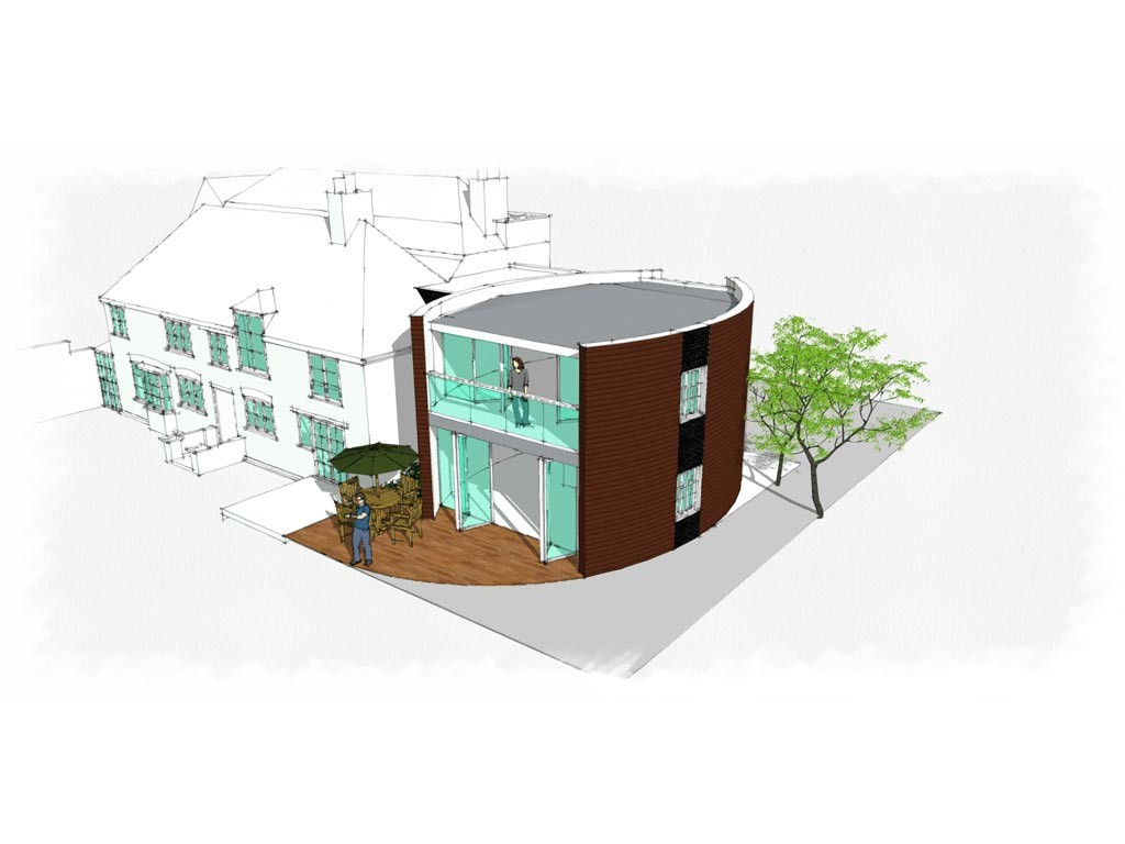 Visualisation of potential house extension to Listed Building