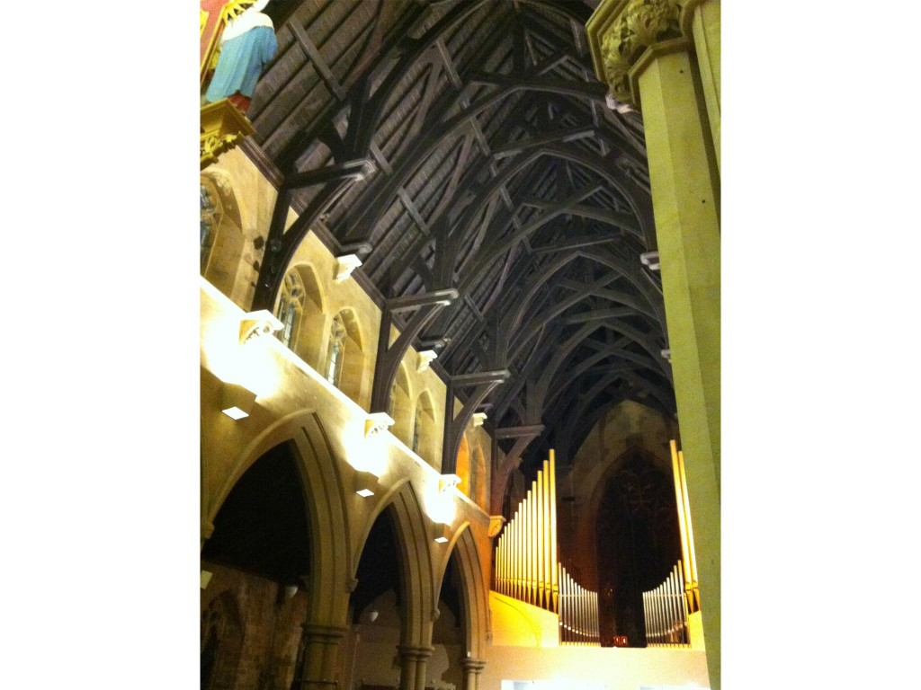 New lighting scheme in parish church